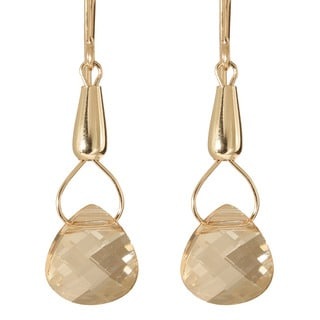 Gold Fill 14k Crystal 'Teardrops of Hecate' Earrings