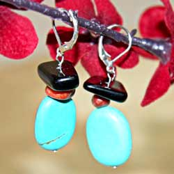 Susen Foster Silverplated Colors of the Caribbean Gemstone Earrings