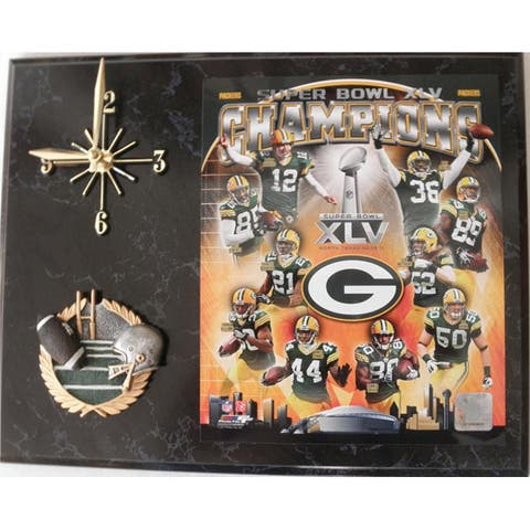 Green Bay Packers Super Bowl XLV Clock