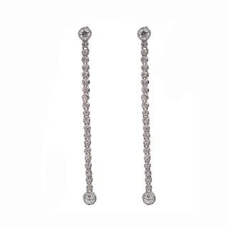 NEXTE Jewelry Silvertone Clear Cubic Zirconia Dangle Earrings