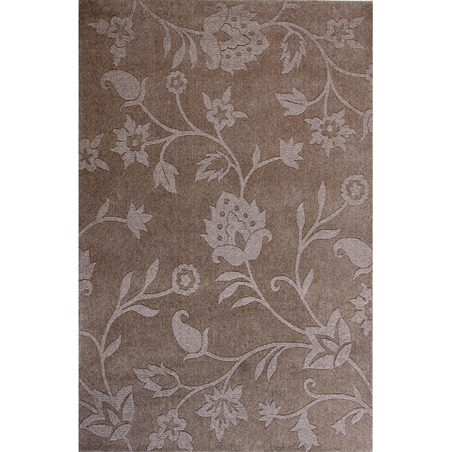 Hand-woven Natural Lotus Blended Wool Rug (4' x 6')