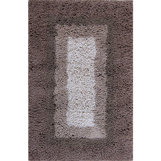 Hand-tufted Modern Shaggy Wool Rug (8' x 10')