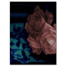 Patty Tuggle 'Roses and Blue China'' Canvas Art - Thumbnail 2