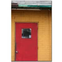 Patty Tuggle 'Red Door' Canvas Art