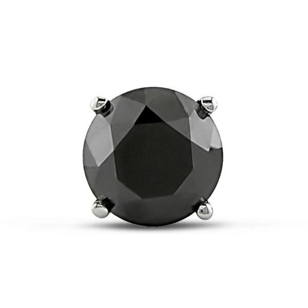 Miadora 14k White Gold 1ct TDW Black Diamond Single Earrings