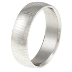 Surgical Steel Etched Zebra Stripe Ring