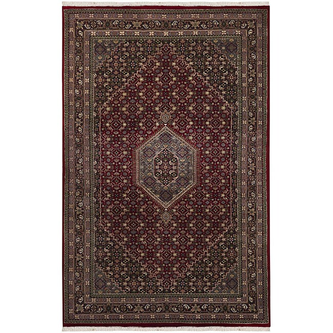 Hand-knotted Mandara Oriental New Zealand Wool Rug (5'6 x 8'6)