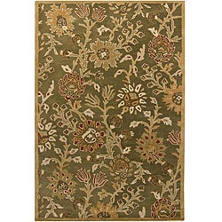 "Artist's Loom Hand-tufted Transitional Floral Wool Rug (5'x7'6) - 5' x 7'6"" - Thumbnail 0"