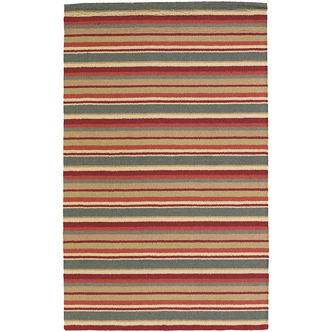 Hand-tufted Mandara  New Zealand Wool Rug (2' x 3')