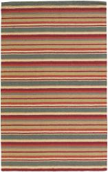 Hand-tufted Mandara  New Zealand Wool Rug (5' x 7') - Thumbnail 2