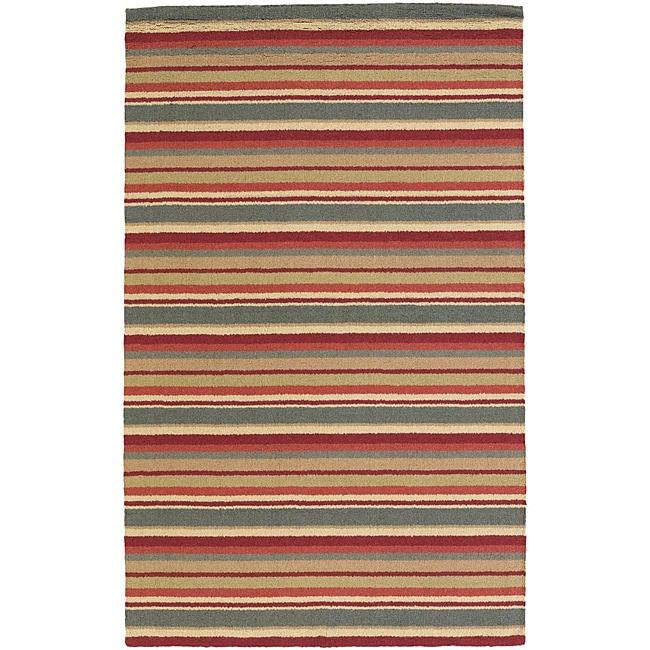 Hand-tufted Mandara New Zealand Wool Rug (5' x 7') - 5' x 7'