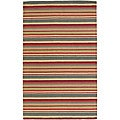 Artist's Loom Hand-tufted Casual Stripes Wool Rug (7'x10')