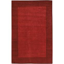 Artist's Loom Hand-tufted Casual Border Wool Rug (5'x7') - 5' x 7' - Thumbnail 0