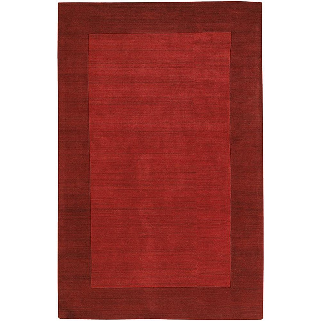 Artist's Loom Hand-tufted Casual Border Wool Rug (7'x10')