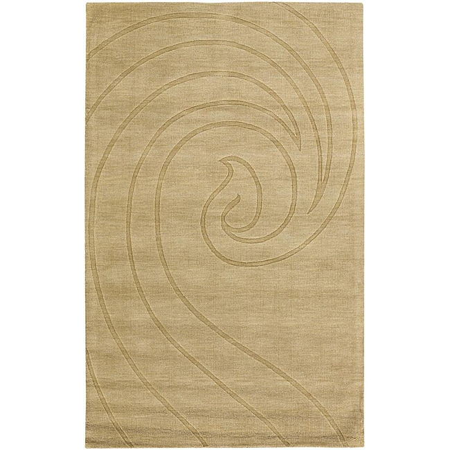 Artist's Loom Hand-tufted Contemporary Geometric Wool Rug (2'x3') - 2' x 3'
