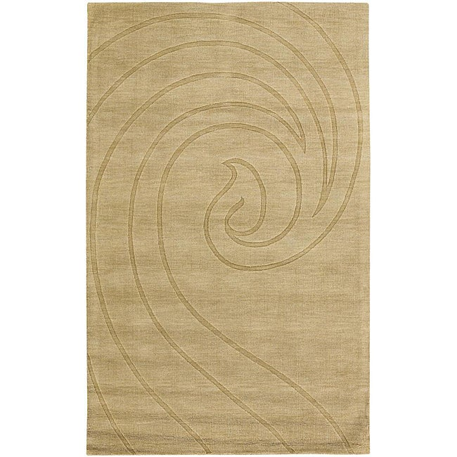 Artist's Loom Hand-tufted Contemporary Geometric Wool Rug (7'x10') - 7' x 10'