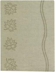 Artist's Loom Hand-tufted Transitional Floral Wool Rug (2'x3') - Thumbnail 2