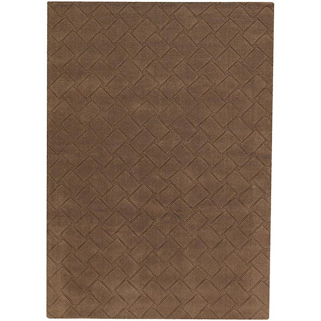 Artist's Loom Hand-tufted Contemporary Geometric Wool Rug - 5'x7'