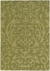 Artist's Loom Hand-tufted Transitional Floral Wool Rug (9'x13') - Thumbnail 2