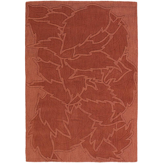 Artist's Loom Hand-tufted Transitional Floral Wool Rug (9'x13')