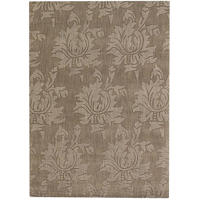 Artist's Loom Hand-tufted Transitional Floral Wool Rug - 9'x13'