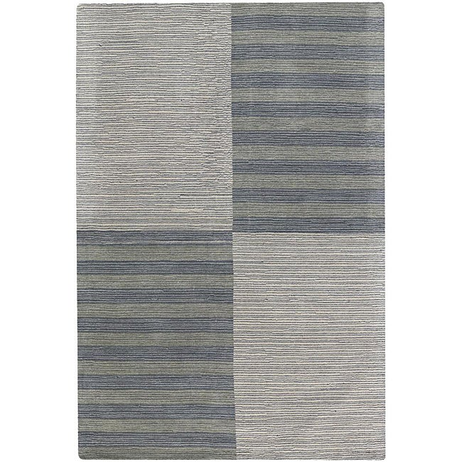 Artist's Loom Hand-tufted Contemporary Geometric Wool Rug (7'x10') - 7' x 10'