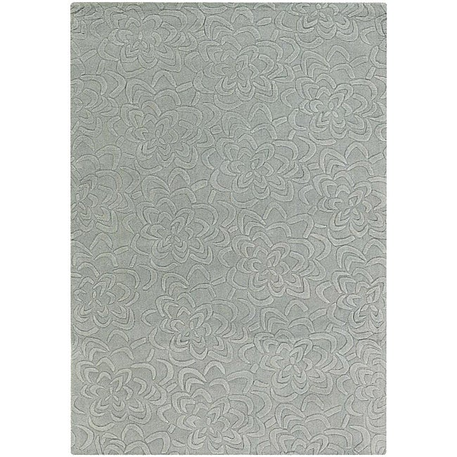 Artist's Loom Hand-tufted Transitional Floral Wool Rug (9'x13') - 9'x13'