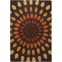 "Artist's Loom Hand-tufted Contemporary Geometric Wool Rug (5'x7'6) - 5' x 7'6"""