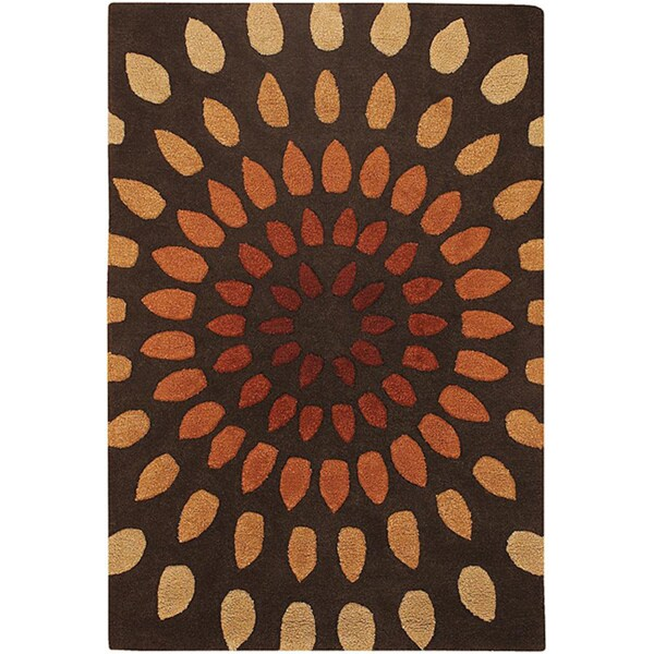 Artist's Loom Hand-tufted Contemporary Geometric Wool Rug (5'x7'6) - 5' x 7'6""