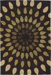Artist's Loom Hand-tufted Contemporary Geometric Wool Rug (9'x13') - Thumbnail 1