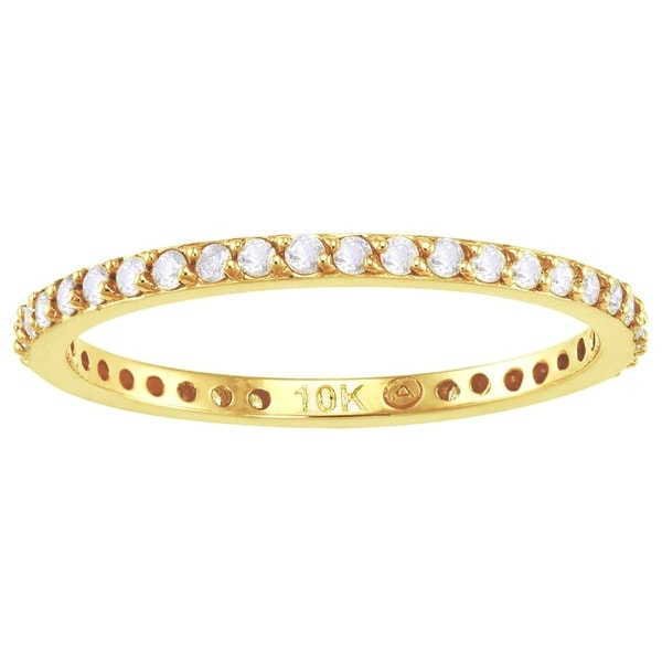 10k Yellow Gold 1/3ct TDW Diamond Eternity Wedding Band (H-I, I2-I3)