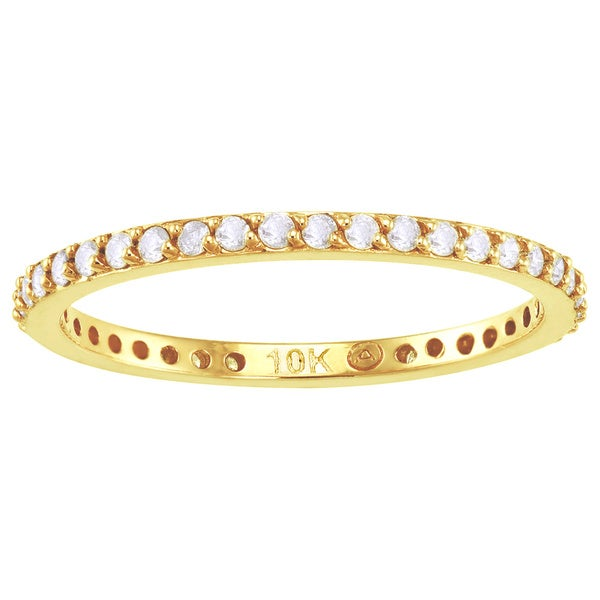 Beverly Hills Charm 10k Yellow Gold 1/3ct TDW Diamond Eternity Wedding Band