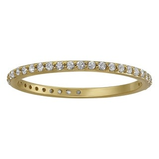 10k Yellow Gold 1/3ct TDW Diamond Eternity Wedding Band