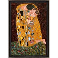 Gustav Klimt 'The Kiss (Fullview)' Framed Canvas Art