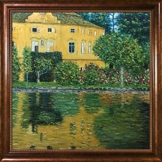 Gustav Klimt Schloss Kammer on Attersee Hand Painted Framed Canvas Art