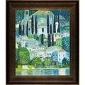 Gustav Klimt 'Church in Cassone' Framed Canvas Art