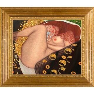 Gustav Klimt 'Danae' Framed Hand-painted Canvas Art