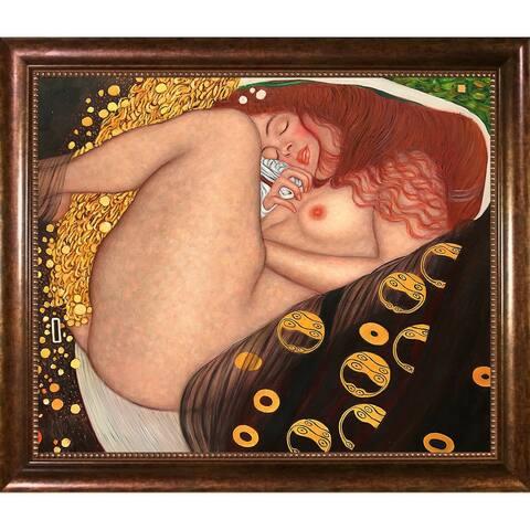 Gustav Klimt 'Danae' Framed Hand-painted Framed Canvas Art