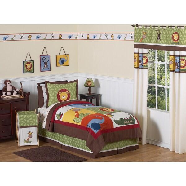 Sweet JoJo Designs Jungle Time 3-piece Full/ Queen-size Bedding Set