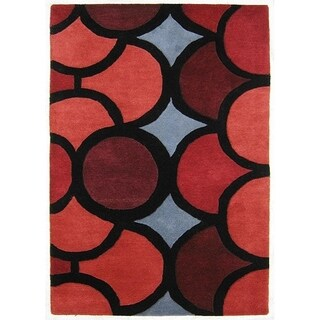 Alliyah Handmade Red New Zealand Blend Wool Rug