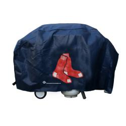 Rico Boston Red Sox Deluxe Weatherproof Lined Vinyl Grill Cover - Thumbnail 2