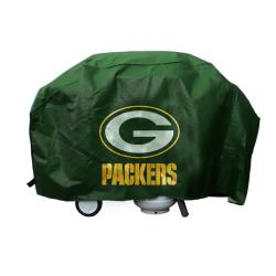 Green Bay Packers Commemorative Deluxe Grill Cover with Felt Lining - Thumbnail 0