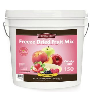Chef's Banquet Freeze Dried Fruit Variety Bucket (150 Servings)