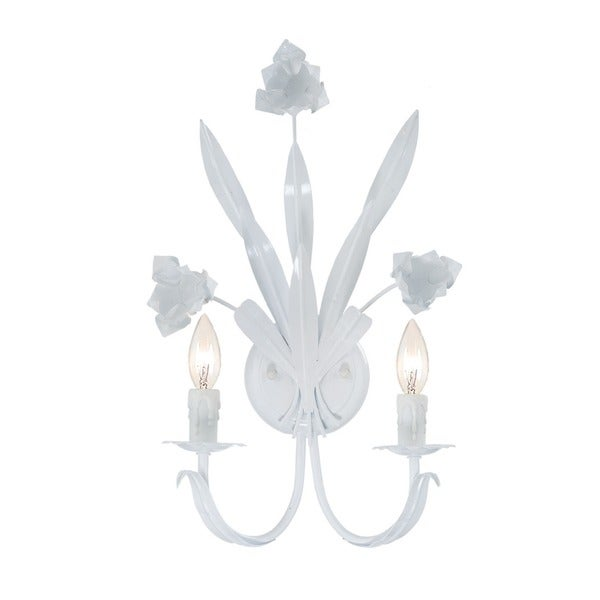 Crystorama Southport 2-light Wet White Finish Wall Sconce