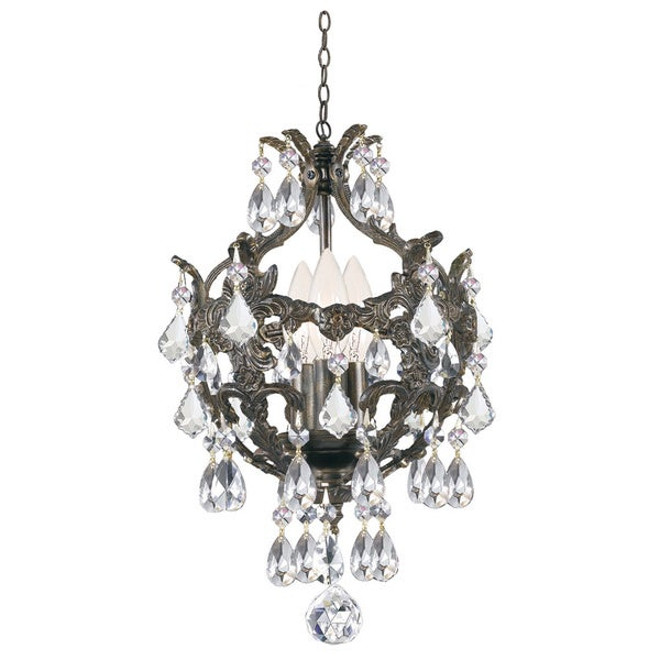 Crystorama Legacy 3-light Legacy Bronze Finish Chandlier
