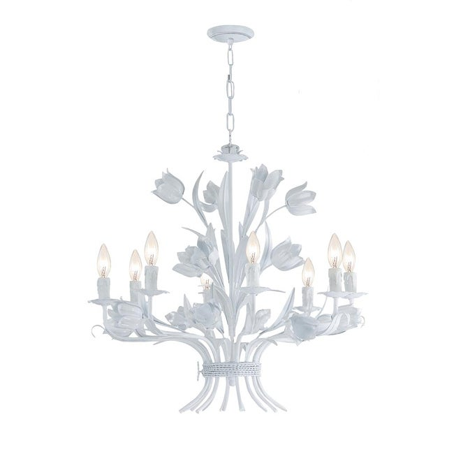 Crystorama Southport 8-light Wet White Finish Chandelier