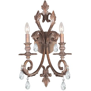 Crystorama Royal 2-light Florentine Bronze Wall Sconce