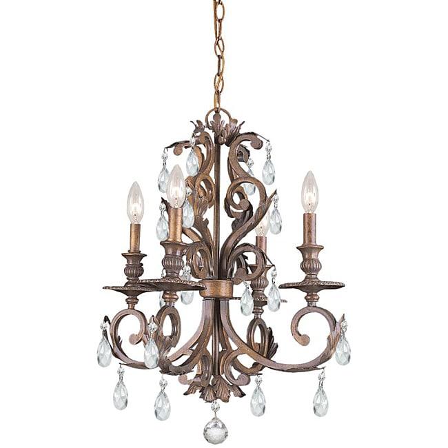 Royal 4 light Florentine Bronze Chandelier Free Shipping