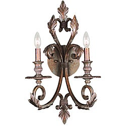 Crystorama Royal 2-light Wall Sconce Florentine Bronze Finish