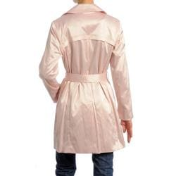 Women's Belted Short Trench Coat - Thumbnail 1